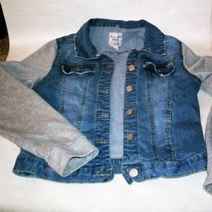 LOVE TREE DENIM Cropped Jean Jacket #234